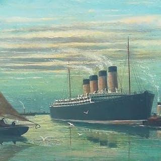 P. Longhi - Pakketboot wordt naar de haven gesleept