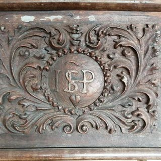 Carved panel (1) - Wood - 17th century