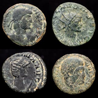 Römisches Reich - Lot comprising 4 AE coins: - Gratian