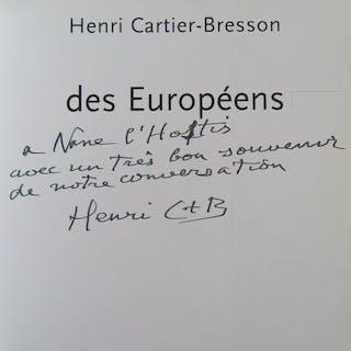Signed; Henri Cartier-Bresson, Jean Clair - Des Européens - 1997