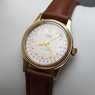 Oris - 'NO RESERVE PRICE' Pointer Date Automatic 18K...