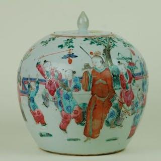 Globular vase - Porcelain - China - 19th century