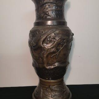 Vase - Bronze - Fleurs