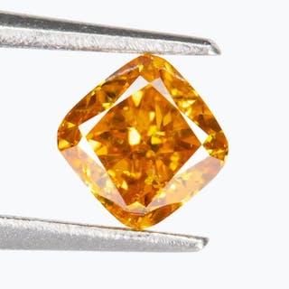 Diamond - 0.24 ct - Natural Fancy VIVID Orange-Yellow - SI1*NO RESERVE*