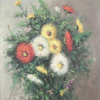 "NIcolaas Charles V. Vulpen Wiertz (1915-1991) - ""Summer flowers"""