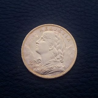 Switzerland - 20Francs 1915-B - Gold