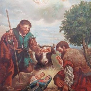 Scuola Lombarda - Ritrovamento Miracoloso dei Pastori