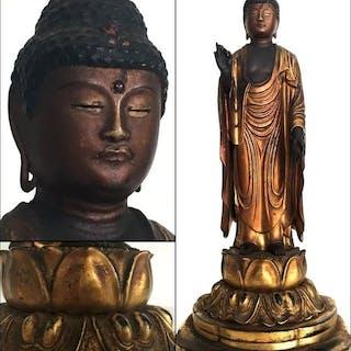 Rare original late Edo period statue of Amida 阿弥陀仏