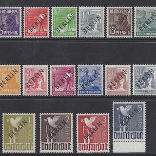 Berlin 1948 - Schwarzaufdrucke postfrisch, geprüft - Michel 1/20