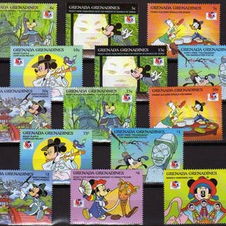 mondo - Disney collection, stamps and blocks MNH