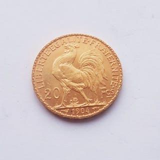 France - 20 Francs 1904 Marianne - Gold