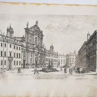 Giovanni Battista Falda (1643-1678) - Rome;  Chiesa Di S