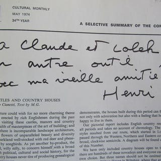 Signed; Henri Cartier-Bresson - DU - 1974