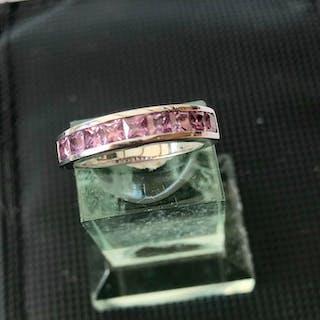 18 kt. White gold - Ring Sapphire