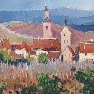 Maurice Martin (1894-1978) - Vue de Riquewihr (Alsace)