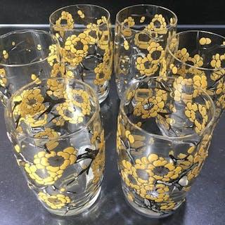 Bicchieri smaltati Art nouveau Delvaux paris (6)