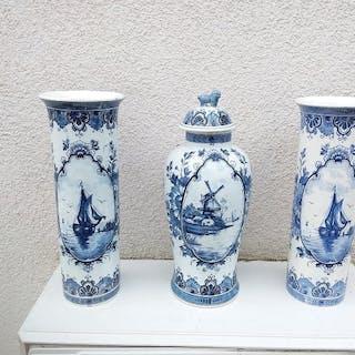 halb blasse Vasen (3) - Keramik