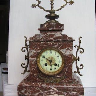 Orologio da camino - Bronzo, Marmo - XIX secolo