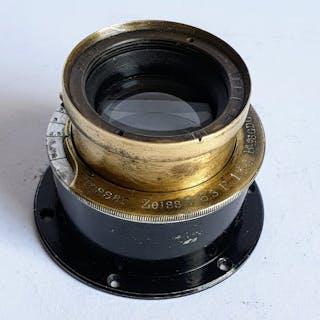Zeiss Tessar 6.3 / 134mm-E.Krauss Paris antique brass lens from ca 1900
