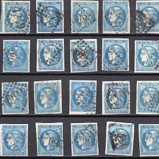 Francia 1870/1870 - Classic Bordeaux stamps - Yvert 45 et 46