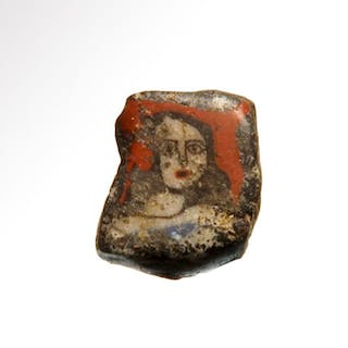 Ancient Egyptian Glass Inlay, Bust of a Lady, Roman Period
