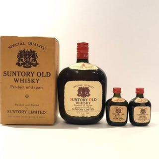Suntory Old Whisky with miniatures - Official bottling - b