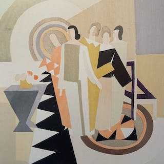 Sonia Delaunay (d'après) - Figures in an Interior