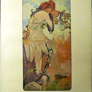 Alphonse Mucha - Original print: The summer