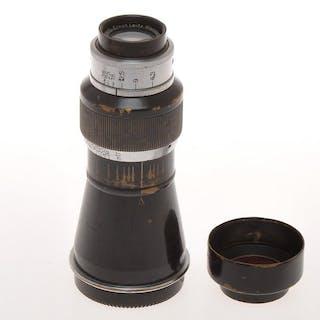Leitz rare Leica SM 39x1 105mm F:6.3 105/6.3 Elmar Mountain black/chrome