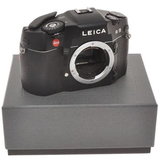 Leica R9 body black finish, nice reflex 35mm, exc++++/near mint with box