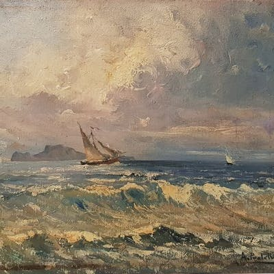 Attilio Pratella(1856-1949) - Marina di Napoli