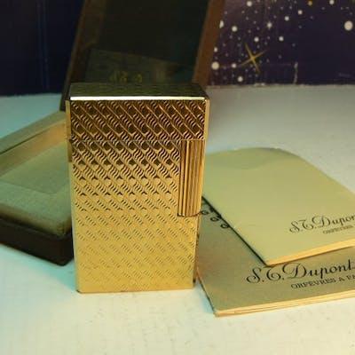 Dupont Ligne 1 - Art Déco - Plaqué or - Briquet de poche - Collection