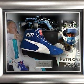 Used Race Boot - Formula Uno - Valtteri Bottas - 2018 - Mercedes incorniciata