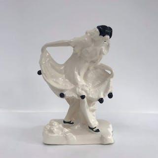 Emanuel Kodet - Graniton - Immagine Art Déco di una pierrot danzante