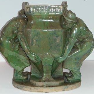"Charles Gréber - Oggetto in ceramica, ""I giardinieri"" - Ceramica"