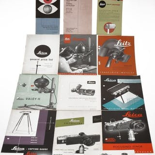 Leica small lot of various Leica literature in English