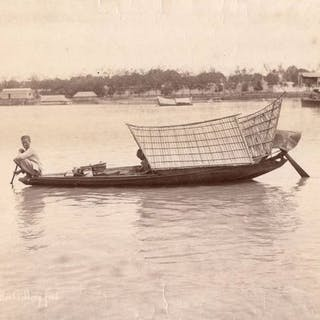 Gustave Richard Lambert (1846-1907)- 17. Malay boat selling food