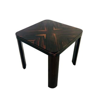 Very rare small Art Deco dining table Makassarholz