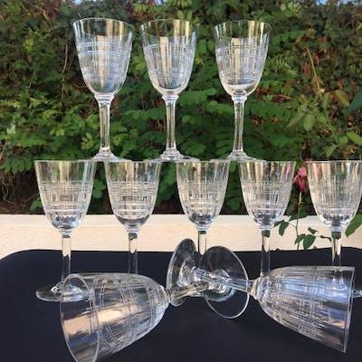 Baccarat  - Belle série de 10 verres - Modèle Cavour - Cristal taillé