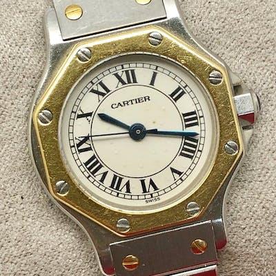 "Cartier - Santos Ronde PM - "" NO RESERVE PRICE"" - Femme - 1990-1999"