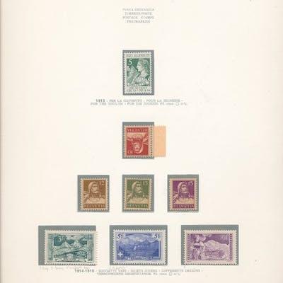 Schweiz 1913/1960 - Advanced collection in Marini album