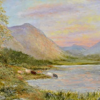 Scottish school (20th century) - A Highland landscape