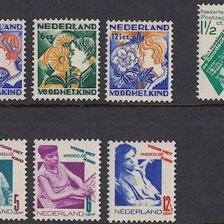 Niederlande 1930/1931 - Three series - NVPH 238/239, 240/243 en 248/251