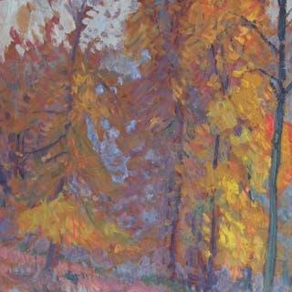 Albert Malet (1905-1986) - Sous bois à l'automne