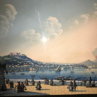 Anonimo- Vue de Naples de Mergellina