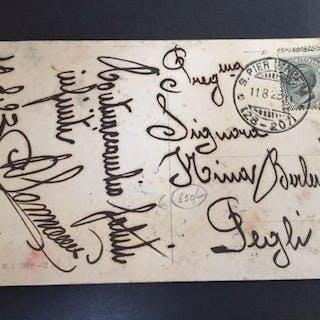 Italia 1919/1923 - Francobollo su cartolina viaggiata e...