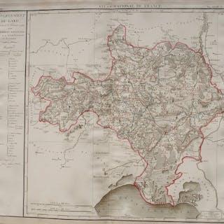 Francia, Departement du Gard; P. Chanlaire - Département Du Gard - 1781-1800