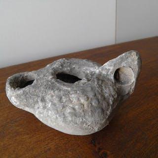 Roma antica Terracotta lampada ad olio - 10×7×5 cm - (1)