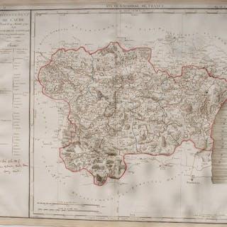 Francia, Departement Aude; P. Chanlaire - Département De L'Aude - 1781-1800