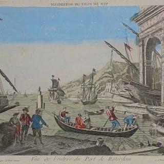 Niederlande, Rotterdam; Mondhard / Lucas - Vue du Port de Rotterdam - 1761-1780